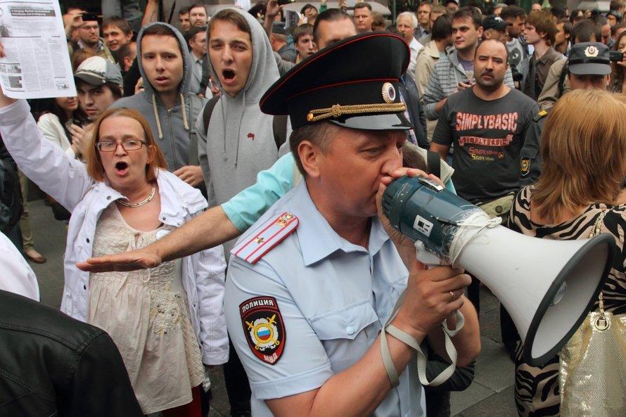 Акция в поддержку Алексея Навального