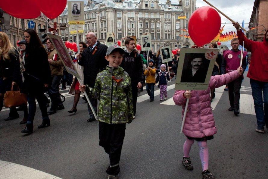 """""""Бессмертный полк"""" на Петроградской стороне (фото)"""