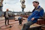 Фоторепортаж: «Самый большой и мощный в мире ледокол «Арктика» спущен на воду в Петербурге (16.06.2016)»