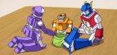 Семья роботов-накопителей