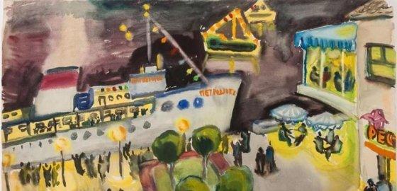 Портрет советского художника в юности
