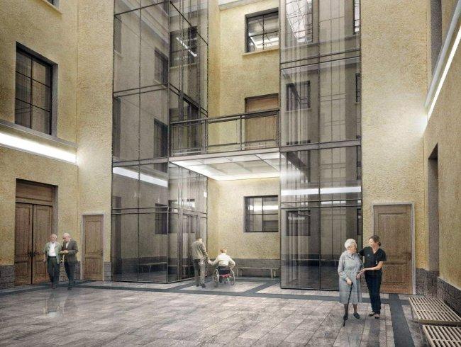 Проектное решение  реконструкции Сервизного двора (ЛенПолпроект)