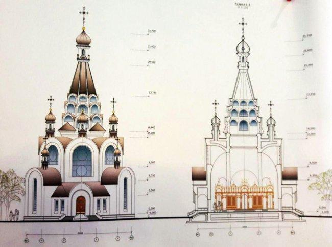 Проект строительства храма // Фото: vk.com/hram_na_kanonerskom_spb