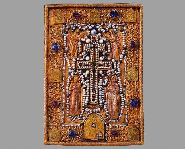 Икона-мощевик из ковчега кн. Ивана Хворостинина