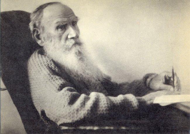 Лев Толстой в день своего 80-летия (1908 г.)