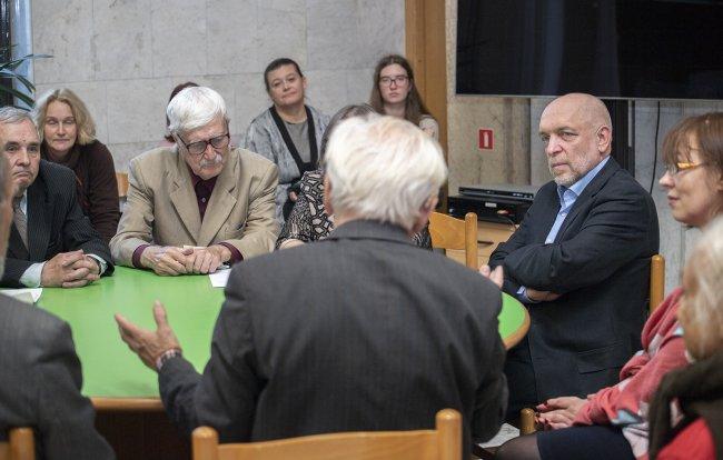 Встреча с читателями // Фото: пресс-служба РНБ