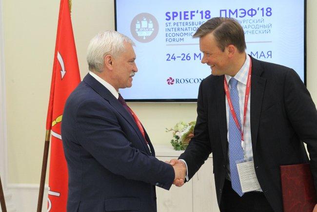 Георгий Полтавченко и Андрей Якунин // Фото: gov.spb.ru