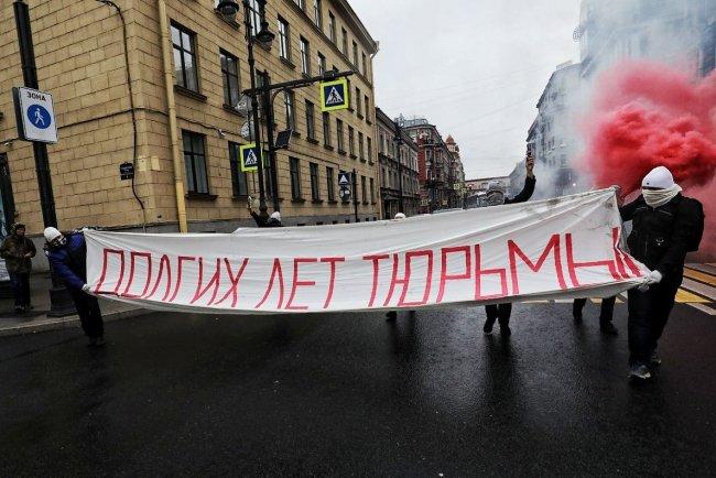 Акция 7 октября в Петербурге / Фото: Давид Френкель