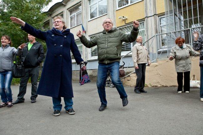 На выборах в Законодательное собрание Петербурга (2016) / Фото: Елена Лукьянова