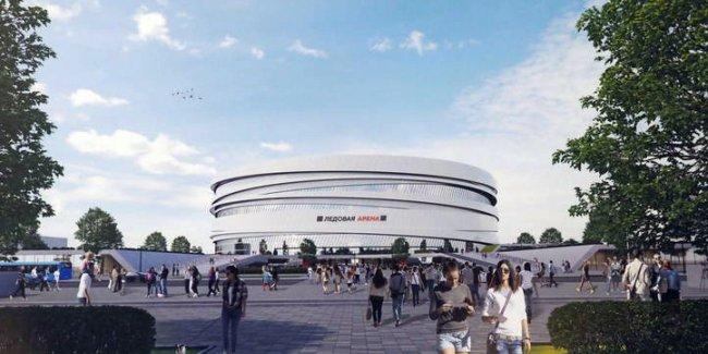 Первый вариант проекта спортивного комплекса на месте СКК / Фото: «Новая газета»