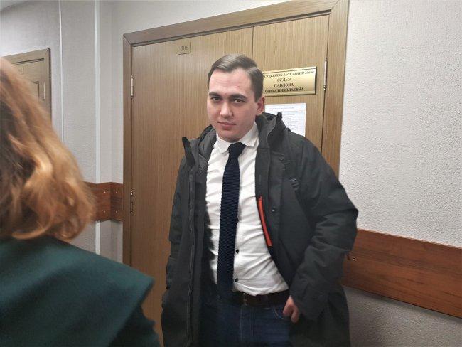 Денис Михайлов в суде / Фото: Сергей Сатановский