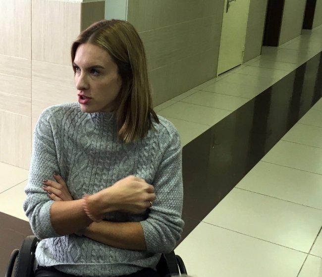 Мария Чаадаева в Невском районном суде Петербурга / Фото: Максим Леонов