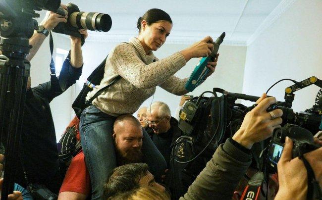 Журналистов на суд набилось битком