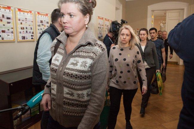 Свидетели по делу о теракте в петербургском метро. Фото: Елена Лукьянова / «Новая в Петербурге»