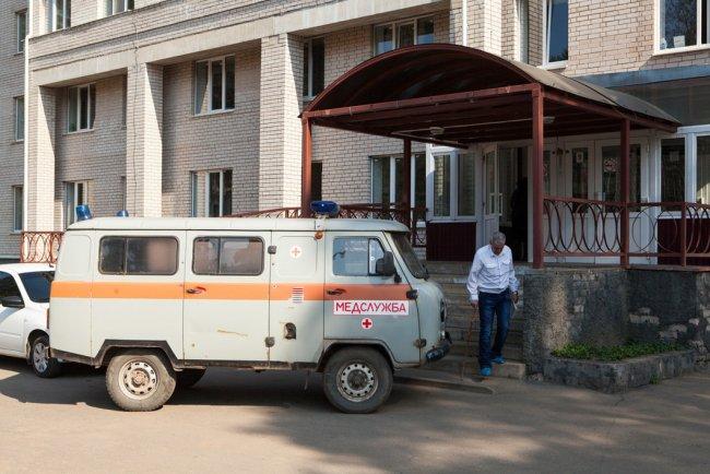 Станция «Скорой помощи» при Окуловской ЦРБ. Фото: Елена Лукьянова / «Новая»