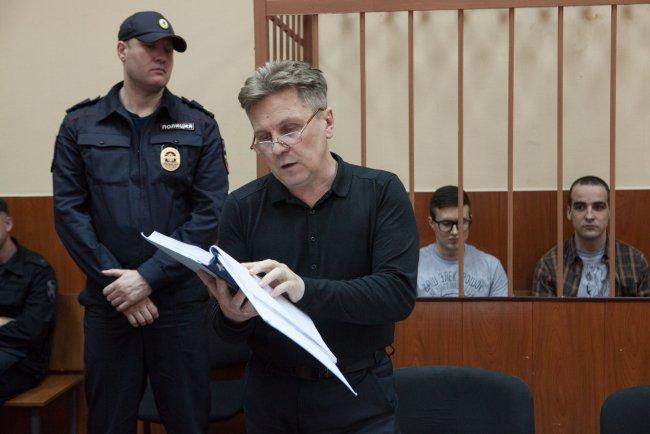 Адвокат Виктора Филинкова Виталий Черкасов. Фото: Елена Лукьянова / «Новая в Петербурге»