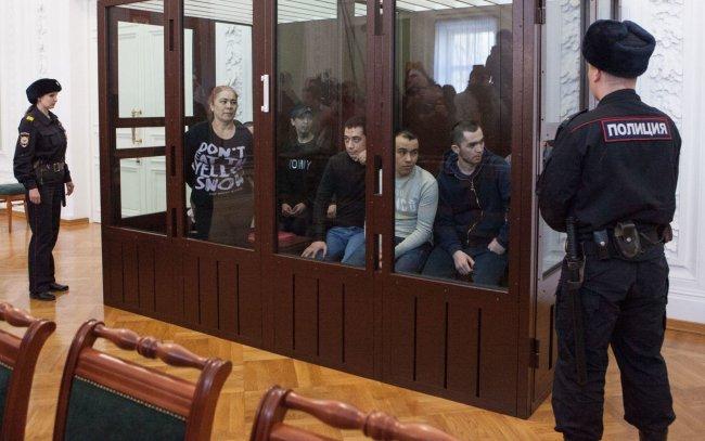 На заседании Московского окружного военного суда. Фото: Елена Лукьянова / «Новая в Петербурге»