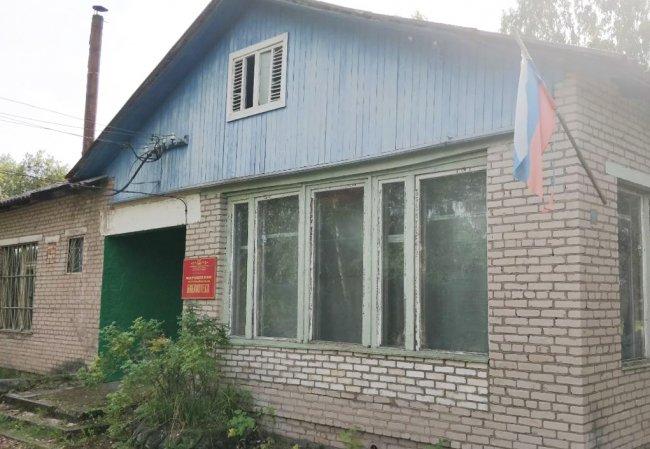 Здание библиотеки в деревне Щербино. Фото: Денис Коротков / «Новая»