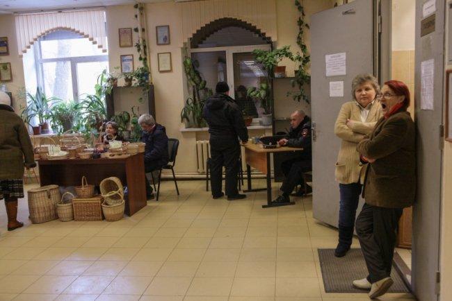 На избирательном участке в Петербурге. Фото: Елена Лукьянова / «Новая»