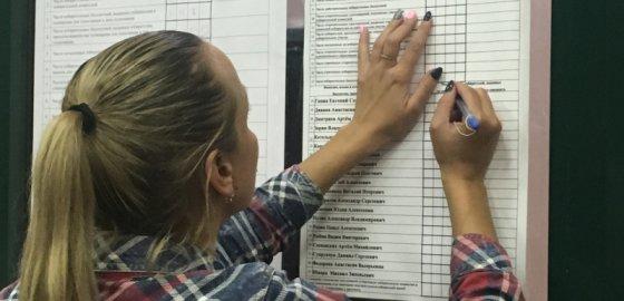 Список единороссов, «опросный лист» и тысяча рублей
