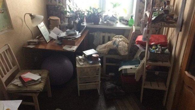 Комната после обыска. Фото из личного архива Светланы Прокопьевой