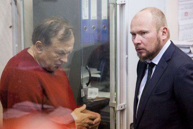 Олег Соколов и его адвокат Александр Почуев. Фото: Елена Лукьянова / «Новая в Петербурге»