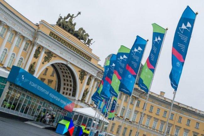 На Международном культурном форуме в Петербурге. Фото: ТАСС