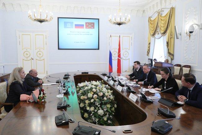 Встреча в Смольном с представителями ЮНЕСКО (март 2019 года). Фото: gov.spb.ru