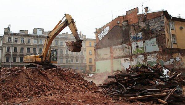 Снесенный под инвестпроект дом Рогова. Фото: РИА Новости