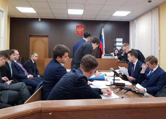На заседании Приморского районного суда. Фото: facebook.com