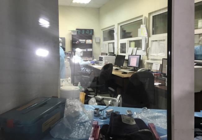 Приемный покой в больнице Св. Георгия. Фото: Ирина Тумакова / «Новая газета»