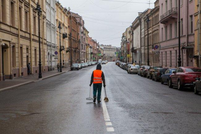 Санкт-Петербург. Миллионная улица в дни карантина. Фото: Елена Лукьянова / «Новая в Петербурге»
