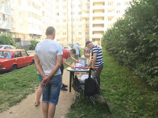 УИК №1133 на Ленинском проспекте в Петербурге. Фото: facebook.com