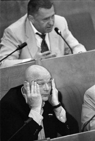 Владимир Жириновский и Михаил Монастырский на заседании в Госдуме. Фото: «Живой журнал» aizen-tt