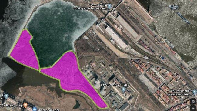 Границы незаконной свалки на гугл-картах