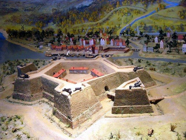Макет крепости Ниеншанц в музее. Фото: wikipedia.org