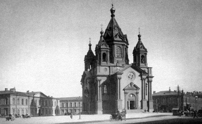 Благовещенская церковь в Петербурге. 1900-е годы. Фото: Н.Г. Матвеева