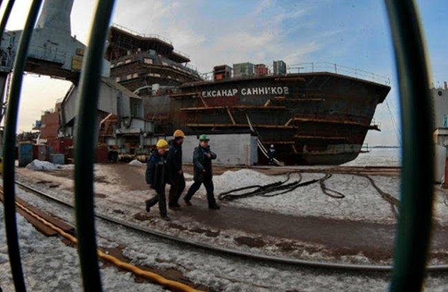 На Выборгском судостроительном заводе. Фото: vyborgshipyard.ru