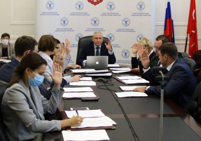 На заседании Санкт-Петербургской избирательной комиссии. Фото: st-petersburg.izbirkom.ru
