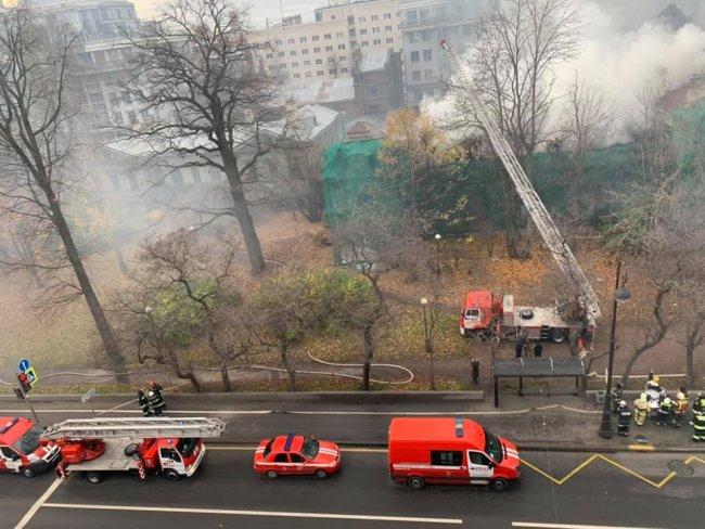Пожар в особняке Игеля. Фото: Лидия Сокрушилова-Минасян