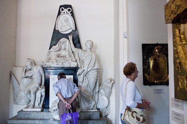Музейная экспозиция в усыпальнице Благовещенской церкви. Фото: ЕленаЛукьянова \ «Новая»