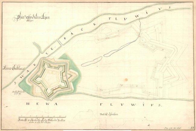 План крепости Ниеншанц (1681-1696) из Государственного архива Швеции