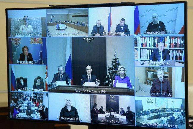 Заседание Совета при Президенте РФ по развитию гражданского общества и прав человека. Фото: president-sovet.ru