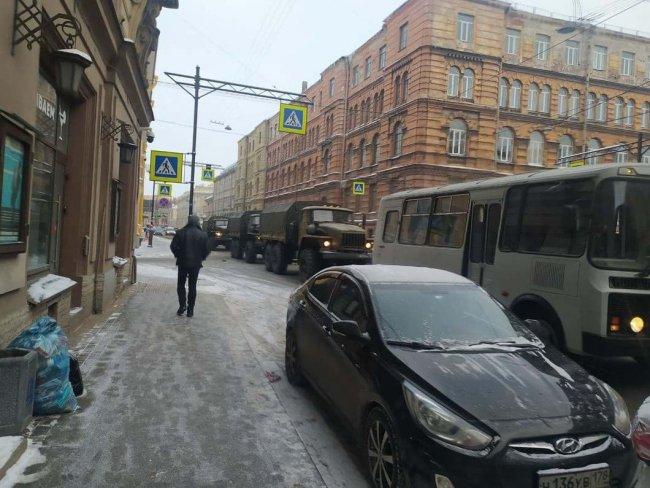 Невский проспект 6 февраля. Фото предоставлено отделением «Открытой России» в СПб