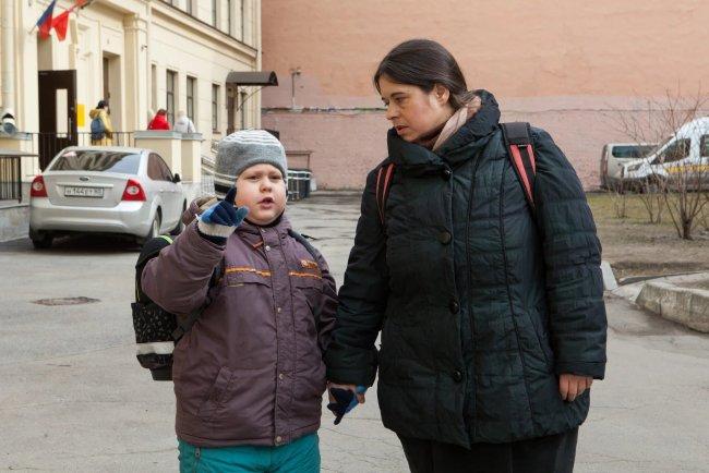 Екатерина Комарова с сыном Вовой. Фото: Елена Лукьянова / «Новая»