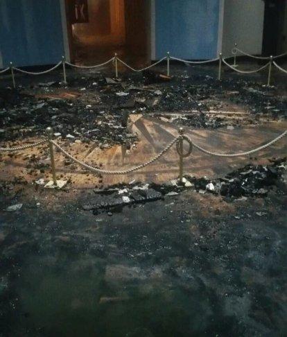 Последствия пожара в Компасном зале. Фото: из группы «Морской Исторический клуб» в фейсбуке