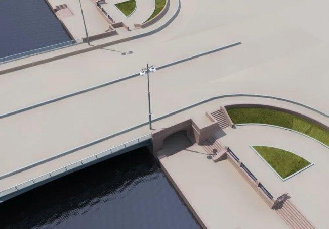 Визуализация проекта Новоадмиралтейского моста. Фото: stpr.ru