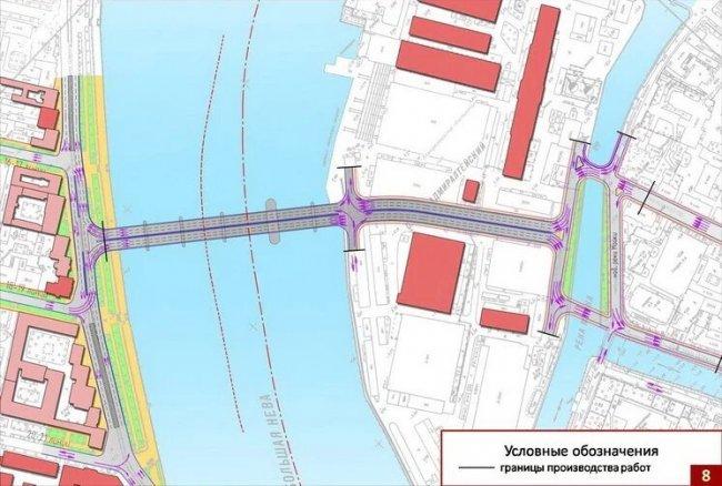 Cхема расположения будущего моста. Фото: stpr.ru